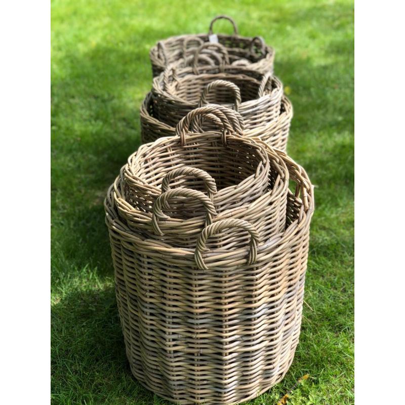 Набор плетеных корзин Grey