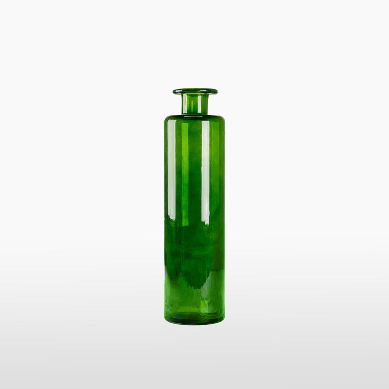 Бутылка зелёная узкая