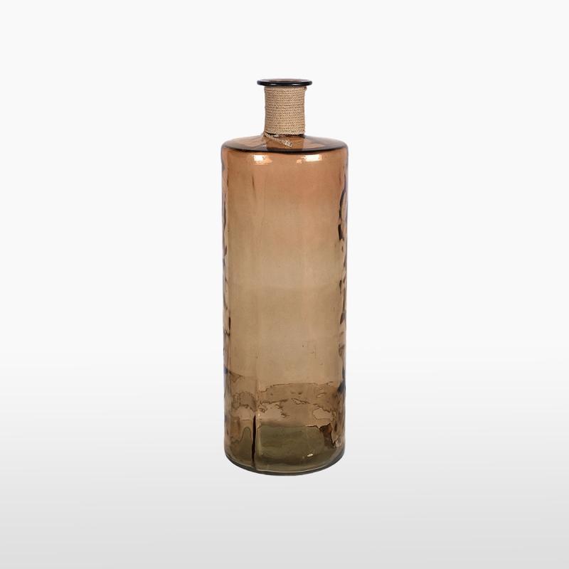 Бутылка коричневая узкая