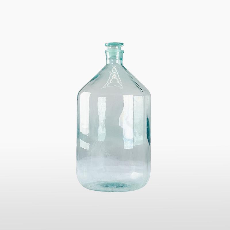 Бутылка прозрачная большая с пробкой