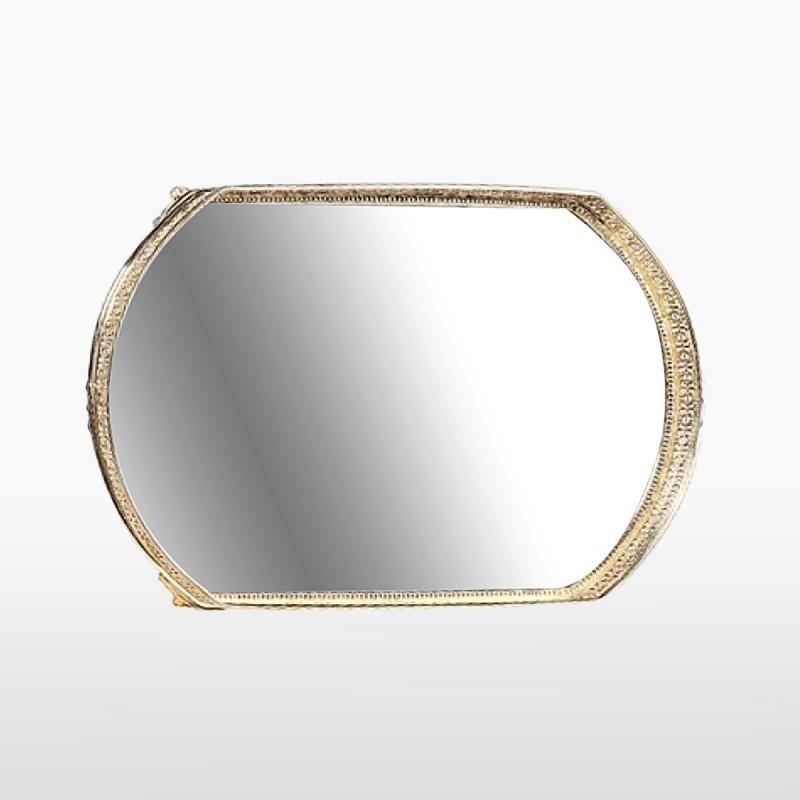 Поднос зеркальный овальный