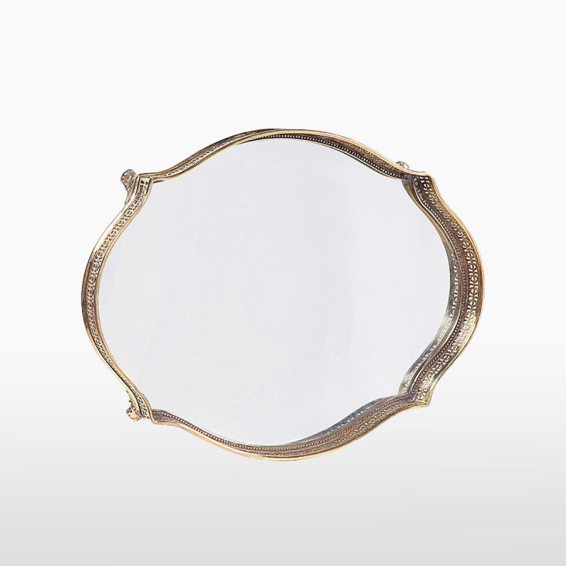 Поднос зеркальный фигурный