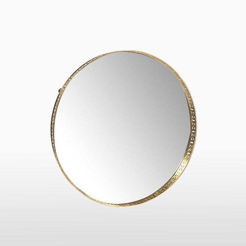Поднос зеркальный круглый