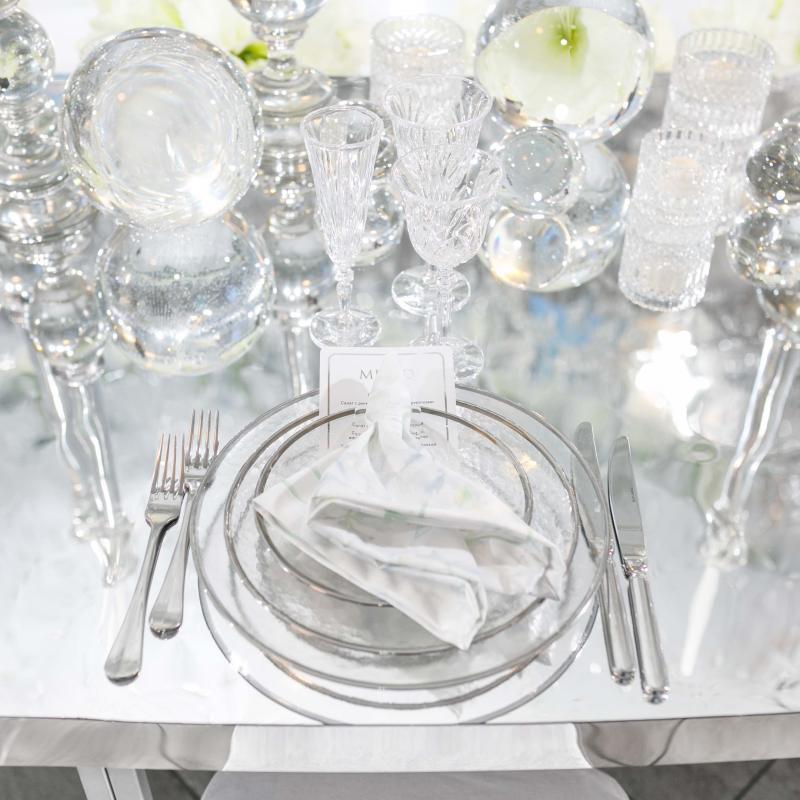 Набор тарелок SABRINA SILVER
