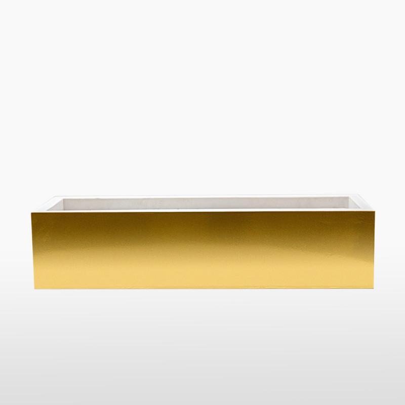 Кашпо прямоугольное NEON GOLD