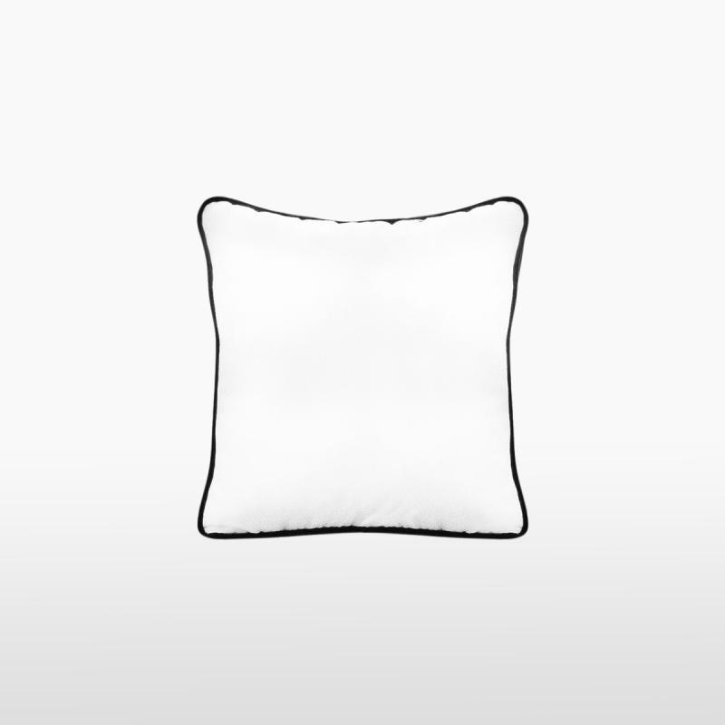 Подушка с черным кантом WHITE