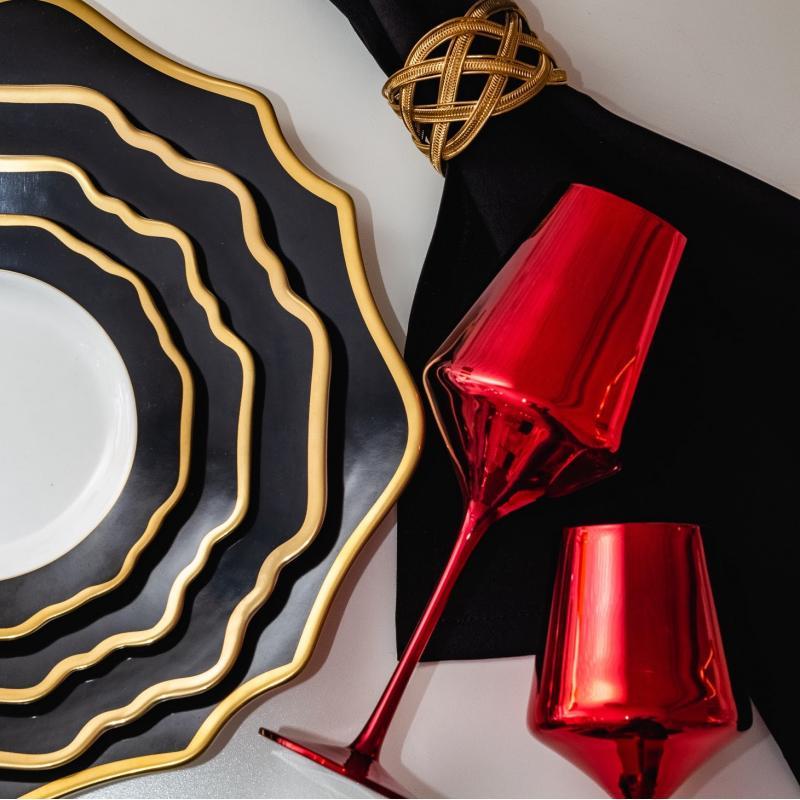 Набор тарелок ALLEN BLACK&GOLD