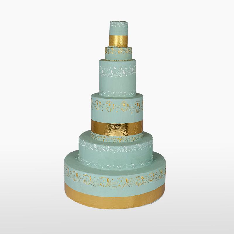 Арт объект CAKE MINT/GOLD