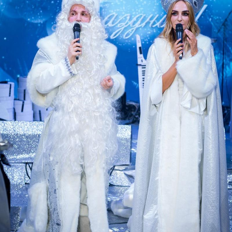 Костюм Деда Мороза белый