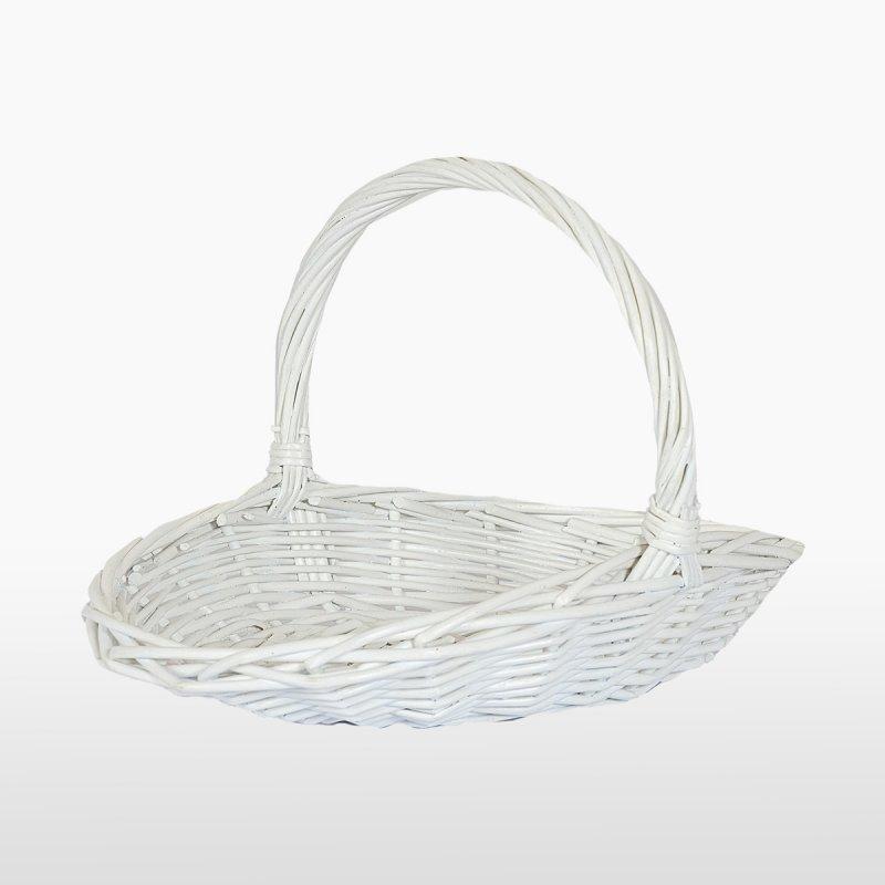 Набор корзин белых плетённых