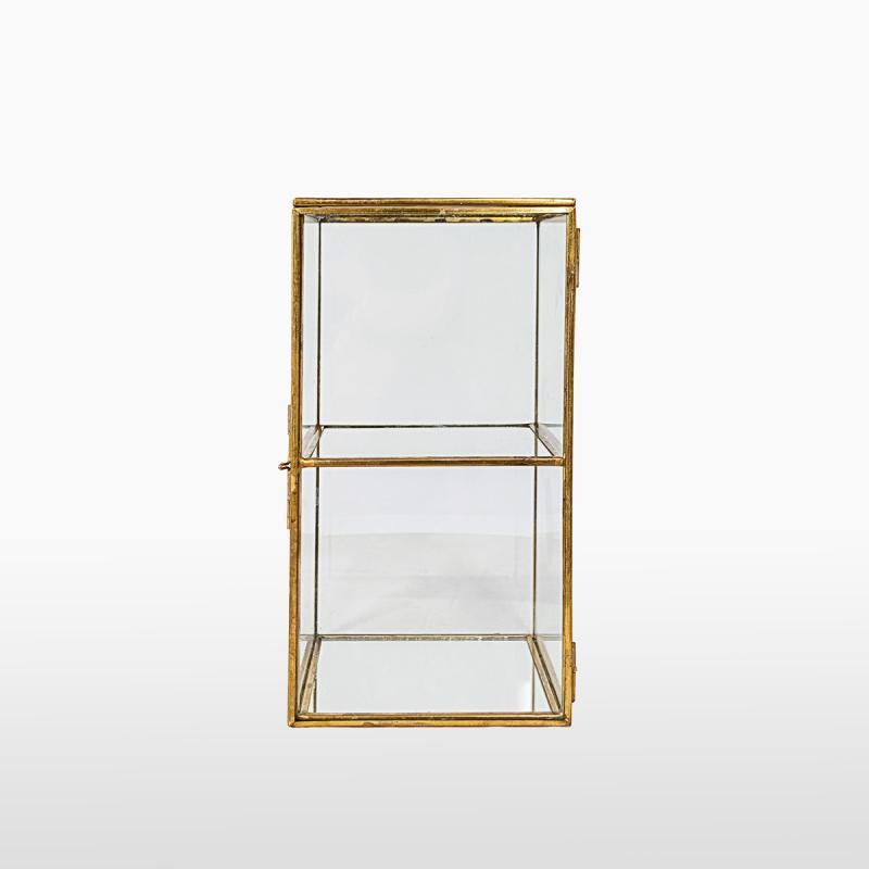 Шкатулка стеклянная двухъярусная GOLD