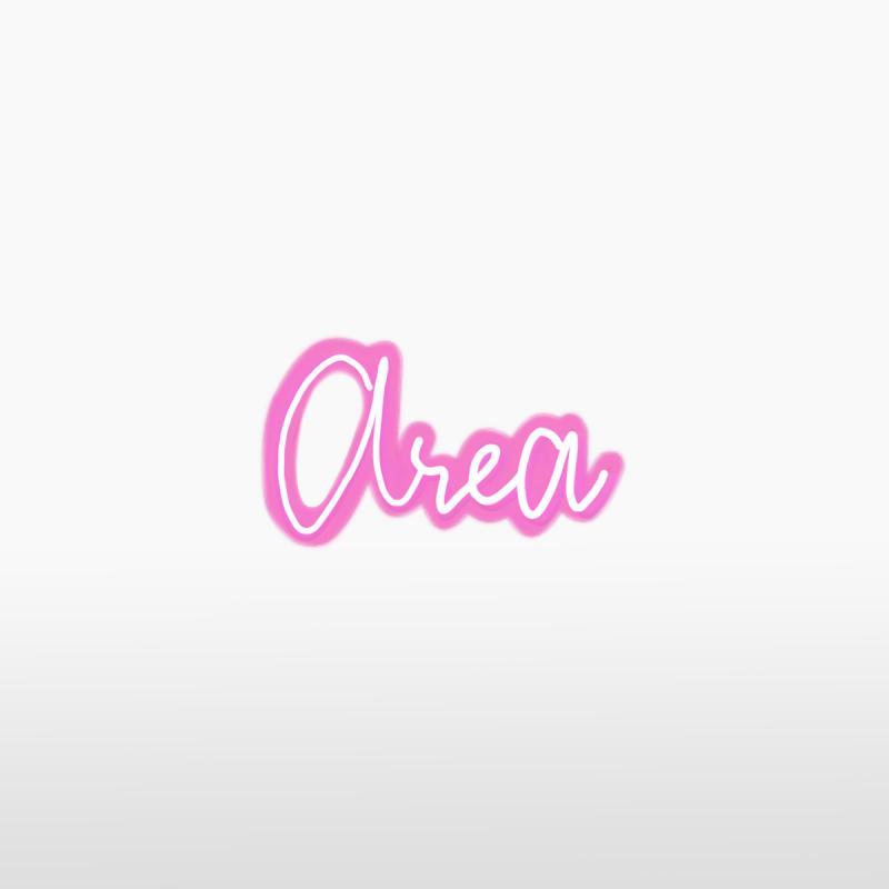 Световая надпись AREA