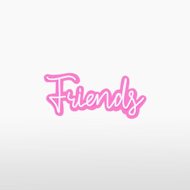Световая надпись FRIENDS