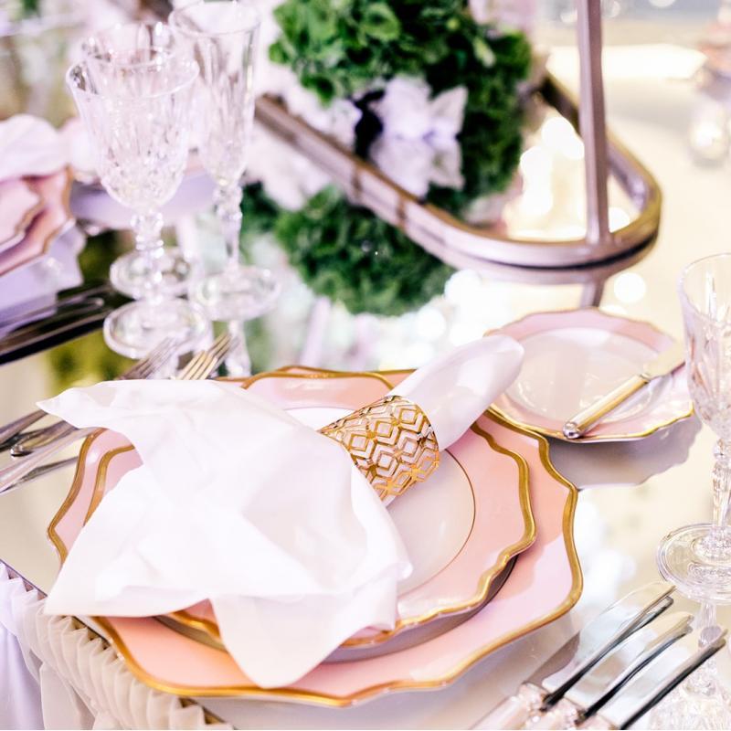 Набор тарелок ALLEN PINK&GOLD