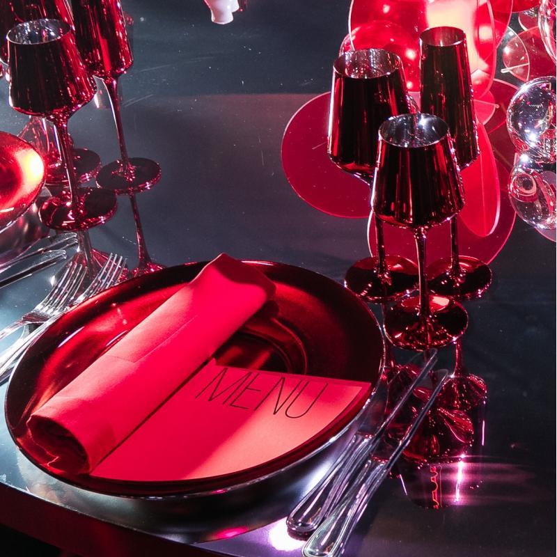 Тарелка RED MIRROR
