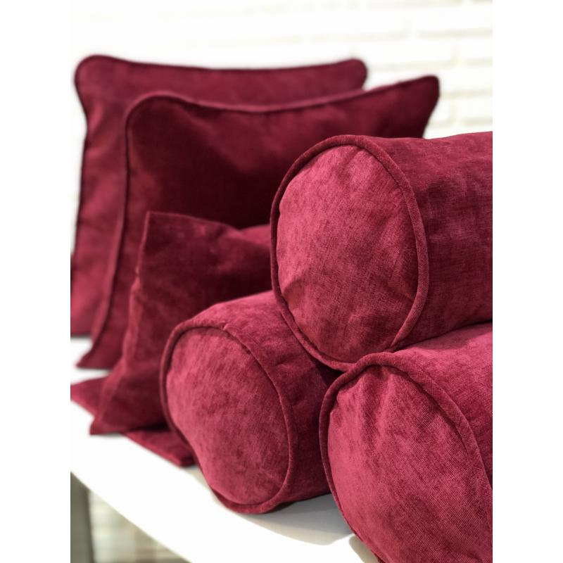 Набор подушек малиновый вельвет