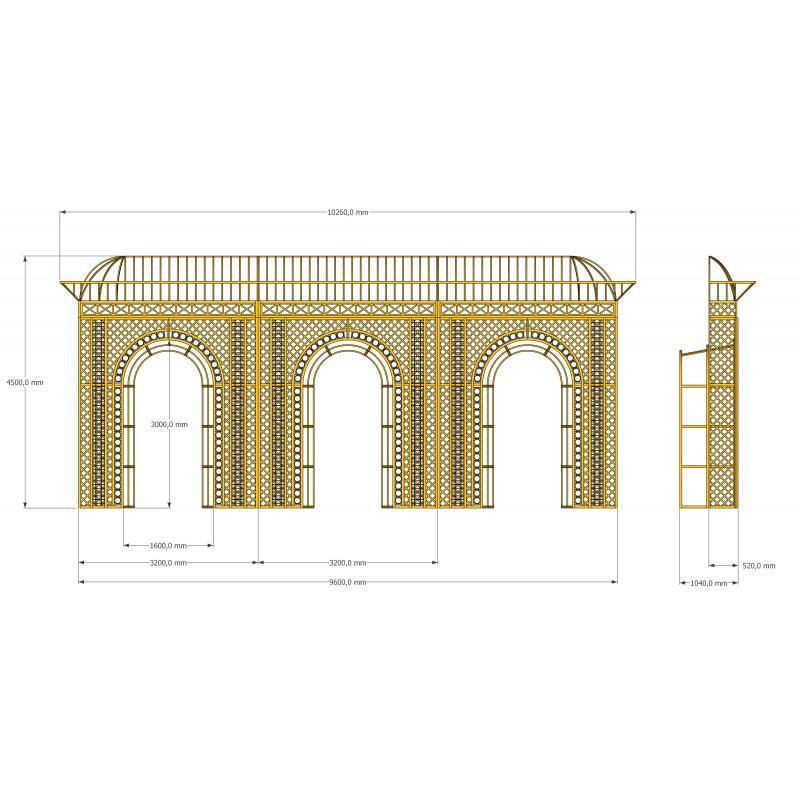 Конструкция  арок