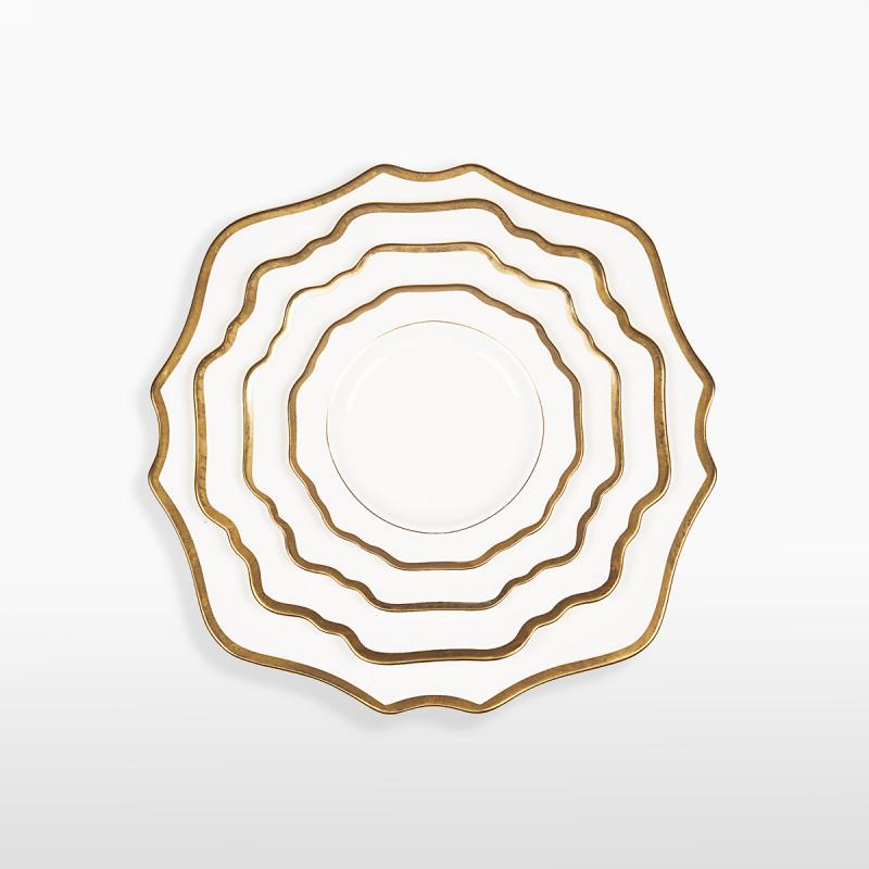 Набор тарелок ALLEN WHITE&GOLD