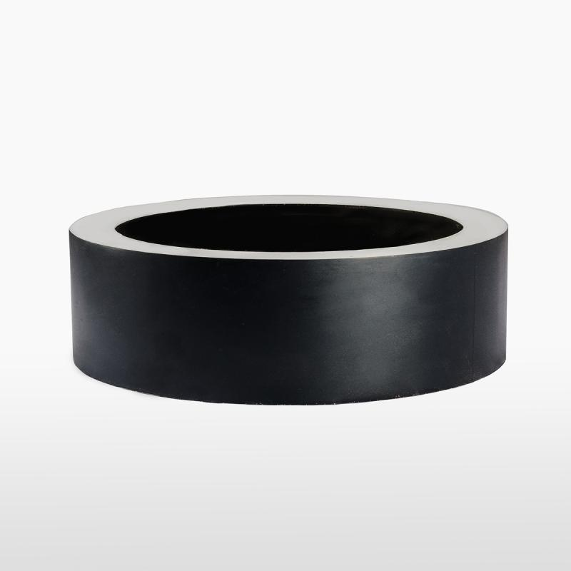 Кашпо круглое NEON BLACK