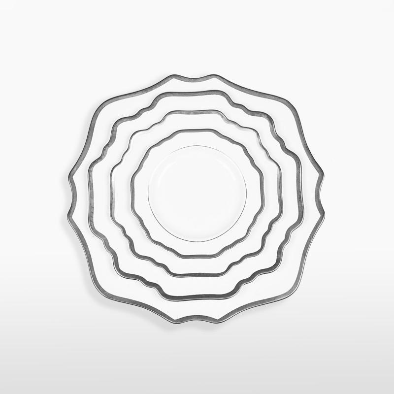 Набор тарелок ALLEN WHITE&SILVER