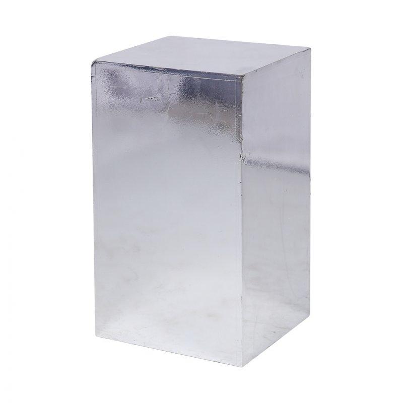 Тумба зеркальный пластик h45