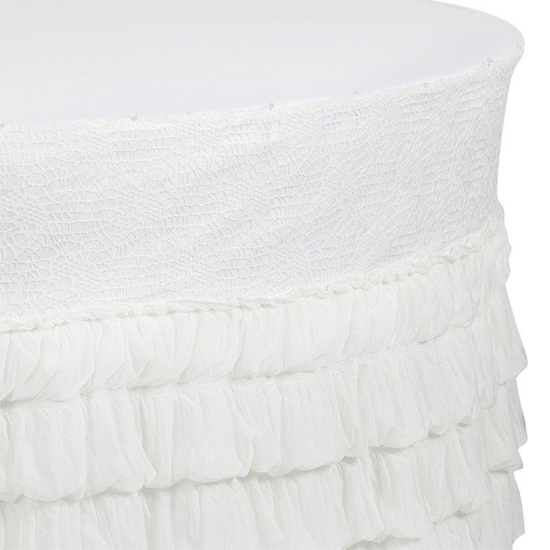 Юбка белая с воланами и поясом из паутинки
