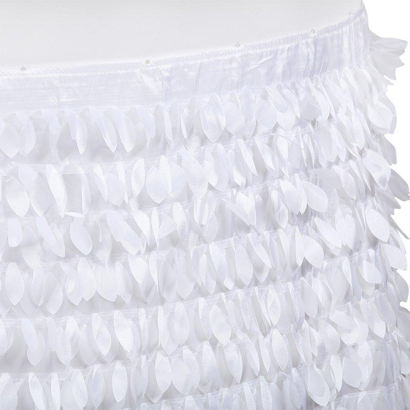 Юбка белая декор «Маленькие листочки»